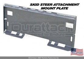 Weld-On Skid Steer Universal Attachment Mounting Plate