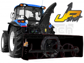 """54"""" Wifo UpShot 3-Point Tractor Snow Blower Model WB54"""