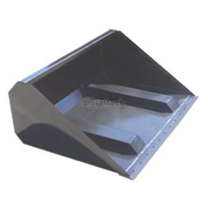 """96"""" Haugen Telehandler High Capacity Fork Slot Bucket for 48"""" Fork Tines Model MFSB-48H-96"""