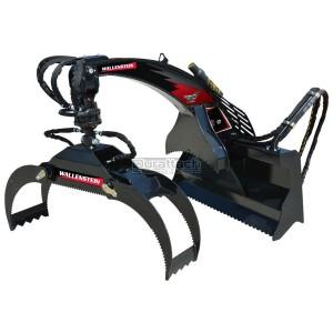 Wallenstein Skid Steer Hydraulic Rotation Log Grapple Model LXG420R